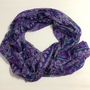 Cejon Purple Patterned Scarf
